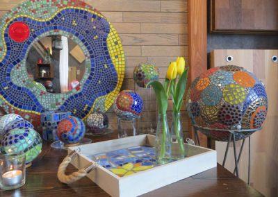 Mosaikkünstlerin Gesa Blaas